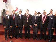 Reconocimiento al Sensei Hidetaka Nishiyama en el Rectorado de la Universidad Federico Villarreal 2007.