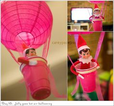 Elf on the Shelf - hot air ballooning