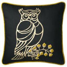 Patch Owl Pillow