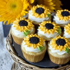 These lemon cupcakes are as light and sunny as they look!