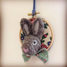 Walter Bouncer needlefelted rabbit hanger by ThefeltingELF on Etsy, $49.00