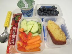 The Full Plate Blog: (more) lunchbox ideas - a slice of cornbread is great