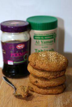 Tahin-Pekmez Cookies - inspired by the Turkish paste of tahini and grape molasses