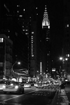 New York City Photography  Big City Nights  - Lexington Avenue and The Chrysler Building
