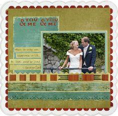 You & Me #Scrapbook Layout Project Idea from Creative Memories #wedding    http://www.creativememories.com