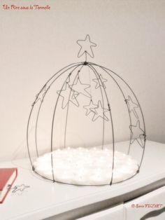 Cake stand dome candles cloche wire  par UnRiresouslaTonnelle