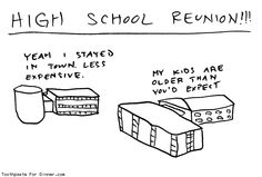 Comic by Toothpaste For Dinner: high school reunion