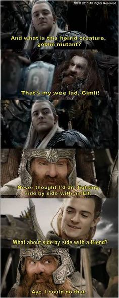 Gloin, Legolas and Gimli from Lord of the Rings - feels <3