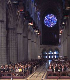 Inside the National Cathedral, Washington, D.C.