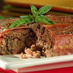 Receta de pastel de carne molida de res y de cerdo.