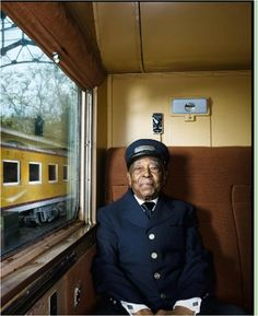Hundred-year-old Pullman conductor - LA.