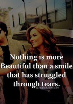 smile through tears...