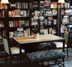 """A library that could easily double as a dining room"""