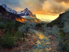 mountains, nation park, background, national parks, beauti, bridges, place, zion nation, river