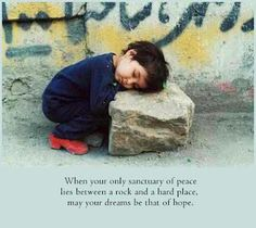 When your only sanctuary of peace lies between a rock and a hard place, may your dreams be that of hope | Dr Kay Trotter www.KayTrotter.com