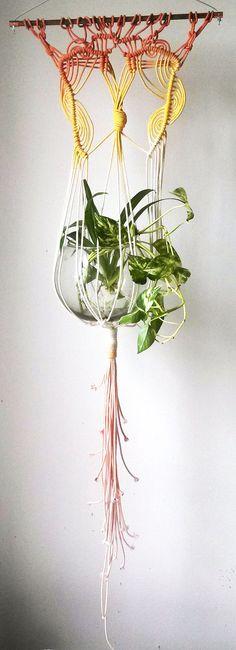 Macrame Plant Hanger by SlowDownProductions on Etsy, $48.00