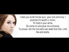Adele - One and Only. I love this whole album, can't get enough of it! lyric, wedding songs