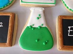 Science beaker cookies   By oh sugar event planning, Green