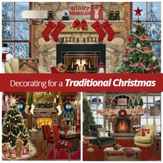 During this time of year there are lots of different #home #décor options to get you in the #Christmas spirit, but a traditional theme will always leave you feeling warm and cozy!