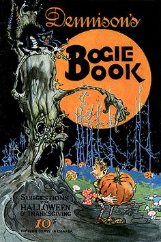 Awesomely spooky, yet still totally fun, vintage Halloween book. #book #vintage #Halloween #cover #illustration