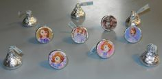 Sofia the First Disney Princess Hershey Kiss Stickers by PartyBees, $9.00