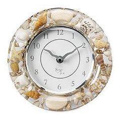 Seashell wall clock.
