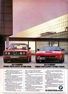 BMW vintage advert