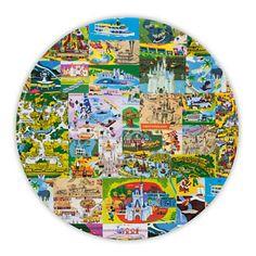 Magic Kingdom Map Plate - 11''