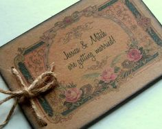 rustic save the date vineyard winery booklet mini by 0namesleft, $36.00