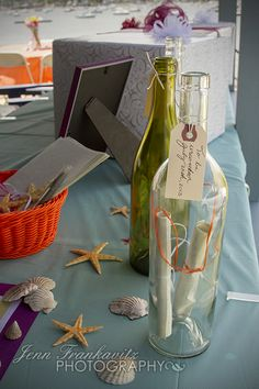 Beach Bridal Shower message in a bottle - write your wishes for the bride and groom, to be opened after the wedding/first anniversary!