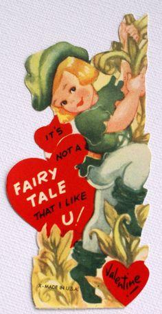 vintage Jack and the Beanstalk Valentine