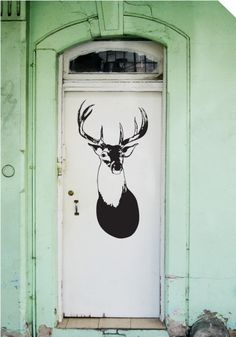 LOVE this doorway stag sticker from stickypic.