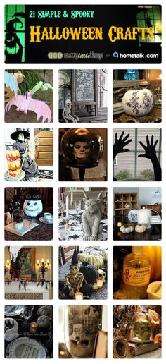 21 Simple & Spooky Halloween Crafts | curated by 'Snazzy Little Things' blog!