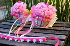 """Rave Bra - Cupcake Bra """"I Dream of Cupcakes"""". $85.00, via Etsy."""