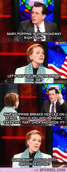 Julie Andrews is made of awesome!
