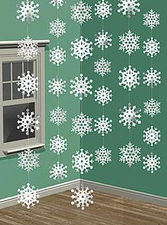 Snowflake backdrop (I made one using my cricut.)