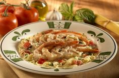 Olive Garden Shrimp Caprese! I have never eaten anything else at Olive Garden - this is AMAZING! Can't wait to make it!