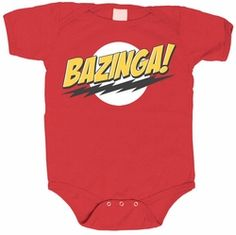 Big Bang Theory Bazinga Onesie, adorable! Now in stock in newborn size 0-3 months!