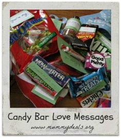 Want to show your other half how much you care? How about hiding some of these love notes around the house? $5 #mummydeals.org #candybarpoem #valentines