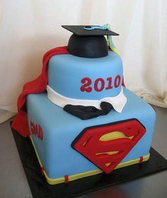 Superman Graduation Cake!