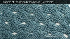 instructions for the Indian Cross-Stitch Pattern (Reversible) at New Stitch a Day