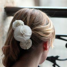 Silk Flower Barrette at www.lolaandi.com