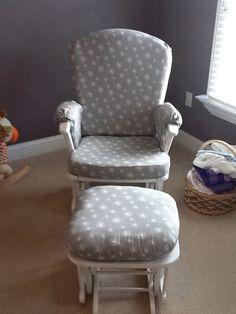 nursery or home glider rocker chair cushion covers and ottoman cushion