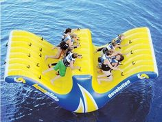 stuff, water totter, water slides, lakes, summer, fun, ten person, person water, thing