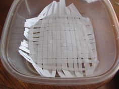 Soaking the papyrus  (many ancient Egypt activities on different posts as well.)