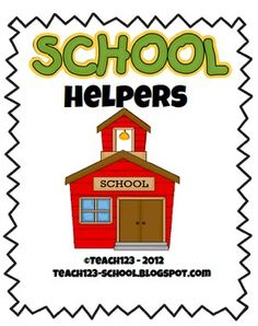 FREE: School Helpers  Ways to involve your parents