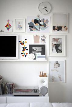 art and photo wall