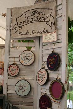 craft show set up inspiration