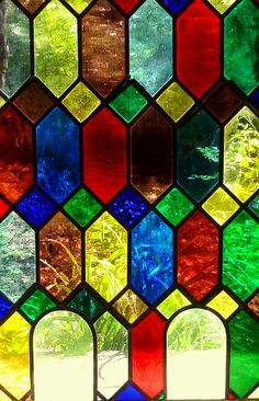 Stained Glass in the chapel - Swiss Gardens by Jayembee69 on Flickr.
