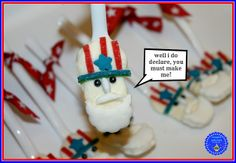 """Uncle Sam Spoons,"" from ""Hoopla Palooza"" -- These really are spoons, but the final shape is SO close to that of a Nutter Butter that the detailed instructions at the click-through could very easily transfer with just a few alterations."